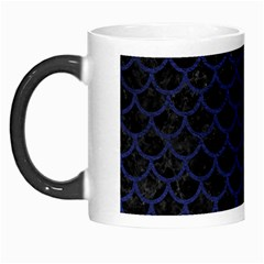 Scales1 Black Marble & Blue Leather Morph Mug by trendistuff