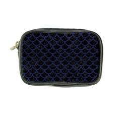 Scales1 Black Marble & Blue Leather Coin Purse by trendistuff