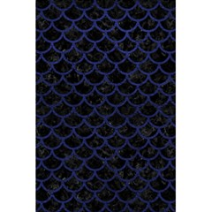 Scales1 Black Marble & Blue Leather 5 5  X 8 5  Notebook by trendistuff