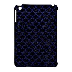 Scales1 Black Marble & Blue Leather Apple Ipad Mini Hardshell Case (compatible With Smart Cover) by trendistuff