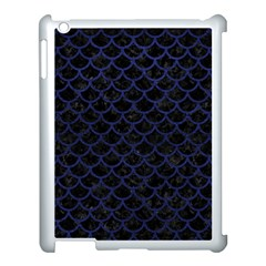 Scales1 Black Marble & Blue Leather Apple Ipad 3/4 Case (white) by trendistuff