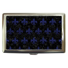 Royal1 Black Marble & Blue Leather (r) Cigarette Money Case by trendistuff