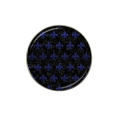 Royal1 Black Marble & Blue Leather (r) Hat Clip Ball Marker (10 Pack) by trendistuff