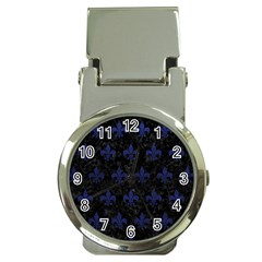 Royal1 Black Marble & Blue Leather (r) Money Clip Watch by trendistuff