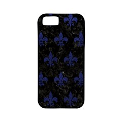 Royal1 Black Marble & Blue Leather (r) Apple Iphone 5 Classic Hardshell Case (pc+silicone) by trendistuff