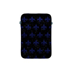 Royal1 Black Marble & Blue Leather (r) Apple Ipad Mini Protective Soft Case by trendistuff