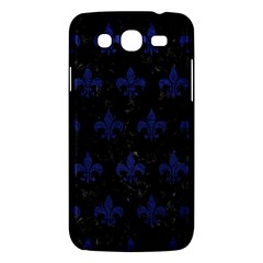 Royal1 Black Marble & Blue Leather (r) Samsung Galaxy Mega 5 8 I9152 Hardshell Case  by trendistuff