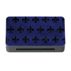 Royal1 Black Marble & Blue Leather Memory Card Reader With Cf by trendistuff