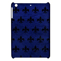 Royal1 Black Marble & Blue Leather Apple Ipad Mini Hardshell Case by trendistuff