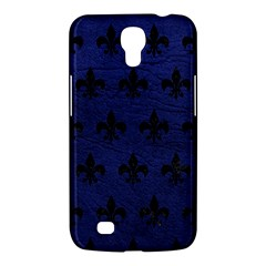 Royal1 Black Marble & Blue Leather Samsung Galaxy Mega 6 3  I9200 Hardshell Case by trendistuff