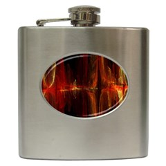 The Burning Of A Bridge Hip Flask (6 Oz) by designsbyamerianna