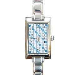 Batik Pattern Rectangle Italian Charm Watch by Simbadda