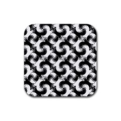 Birds Flock Together Rubber Square Coaster (4 Pack)  by Simbadda