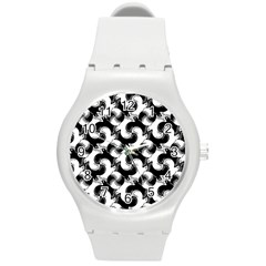 Birds Flock Together Round Plastic Sport Watch (m) by Simbadda
