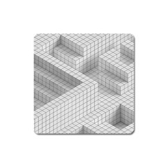Design Grafis Pattern Square Magnet by Simbadda