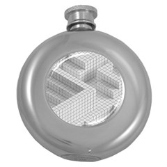Design Grafis Pattern Round Hip Flask (5 Oz) by Simbadda
