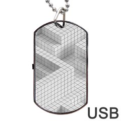 Design Grafis Pattern Dog Tag Usb Flash (one Side) by Simbadda
