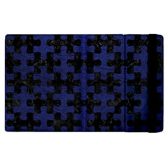 Puzzle1 Black Marble & Blue Leather Apple Ipad 2 Flip Case by trendistuff