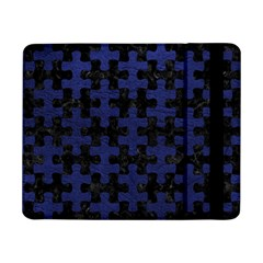 Puzzle1 Black Marble & Blue Leather Samsung Galaxy Tab Pro 8 4  Flip Case by trendistuff