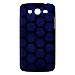 Hexagon2 Black Marble & Blue Leather (r) Samsung Galaxy Mega 5 8 I9152 Hardshell Case  by trendistuff