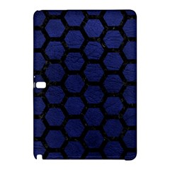 Hexagon2 Black Marble & Blue Leather (r) Samsung Galaxy Tab Pro 10 1 Hardshell Case by trendistuff