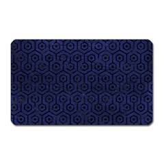 Hexagon1 Black Marble & Blue Leather (r) Magnet (rectangular) by trendistuff