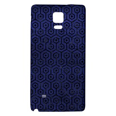 Hexagon1 Black Marble & Blue Leather (r) Samsung Note 4 Hardshell Back Case by trendistuff