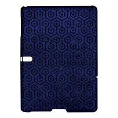 Hexagon1 Black Marble & Blue Leather (r) Samsung Galaxy Tab S (10 5 ) Hardshell Case  by trendistuff