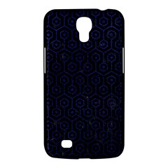 Hexagon1 Black Marble & Blue Leather Samsung Galaxy Mega 6 3  I9200 Hardshell Case by trendistuff