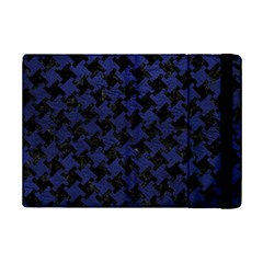 Houndstooth2 Black Marble & Blue Leather Apple Ipad Mini 2 Flip Case by trendistuff