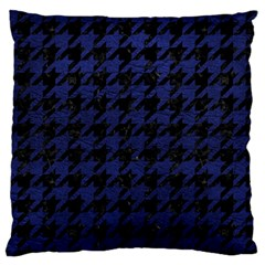 Houndstooth1 Black Marble & Blue Leather Standard Flano Cushion Case (two Sides) by trendistuff