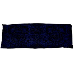 Damask2 Black Marble & Blue Leather (r) Body Pillow Case Dakimakura (two Sides) by trendistuff