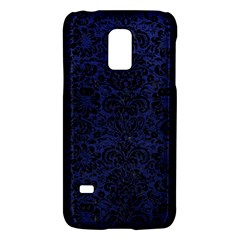 Damask2 Black Marble & Blue Leather (r) Samsung Galaxy S5 Mini Hardshell Case  by trendistuff