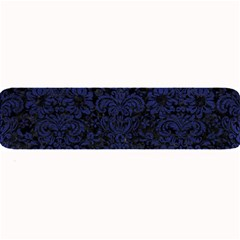 Damask2 Black Marble & Blue Leather Large Bar Mat by trendistuff