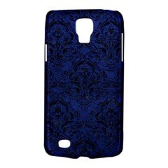 Damask1 Black Marble & Blue Leather (r) Samsung Galaxy S4 Active (i9295) Hardshell Case by trendistuff
