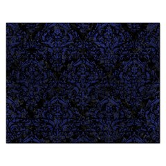 Damask1 Black Marble & Blue Leather Jigsaw Puzzle (rectangular) by trendistuff