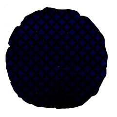 Circles3 Black Marble & Blue Leather (r) Large 18  Premium Flano Round Cushion  by trendistuff
