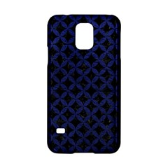Circles3 Black Marble & Blue Leather Samsung Galaxy S5 Hardshell Case  by trendistuff