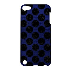 Circles2 Black Marble & Blue Leather (r) Apple Ipod Touch 5 Hardshell Case by trendistuff