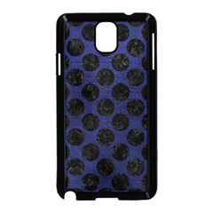 Circles2 Black Marble & Blue Leather (r) Samsung Galaxy Note 3 Neo Hardshell Case (black) by trendistuff