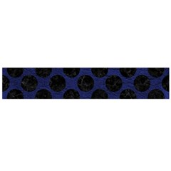 Circles2 Black Marble & Blue Leather (r) Flano Scarf (large) by trendistuff