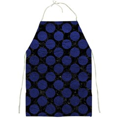 Circles2 Black Marble & Blue Leather Full Print Apron by trendistuff
