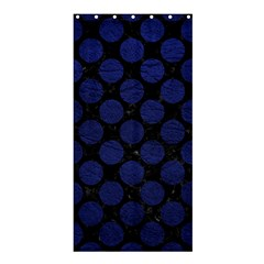 Circles2 Black Marble & Blue Leather Shower Curtain 36  X 72  (stall) by trendistuff