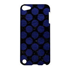 Circles2 Black Marble & Blue Leather Apple Ipod Touch 5 Hardshell Case by trendistuff