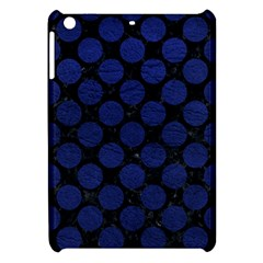Circles2 Black Marble & Blue Leather Apple Ipad Mini Hardshell Case by trendistuff