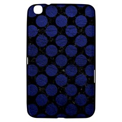Circles2 Black Marble & Blue Leather Samsung Galaxy Tab 3 (8 ) T3100 Hardshell Case  by trendistuff