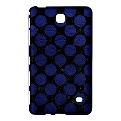 Circles2 Black Marble & Blue Leather Samsung Galaxy Tab 4 (7 ) Hardshell Case  by trendistuff