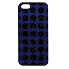 Circles1 Black Marble & Blue Leather (r) Apple Iphone 5 Seamless Case (black) by trendistuff