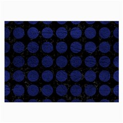 Circles1 Black Marble & Blue Leather Large Glasses Cloth by trendistuff