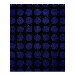Circles1 Black Marble & Blue Leather Shower Curtain 60  X 72  (medium)